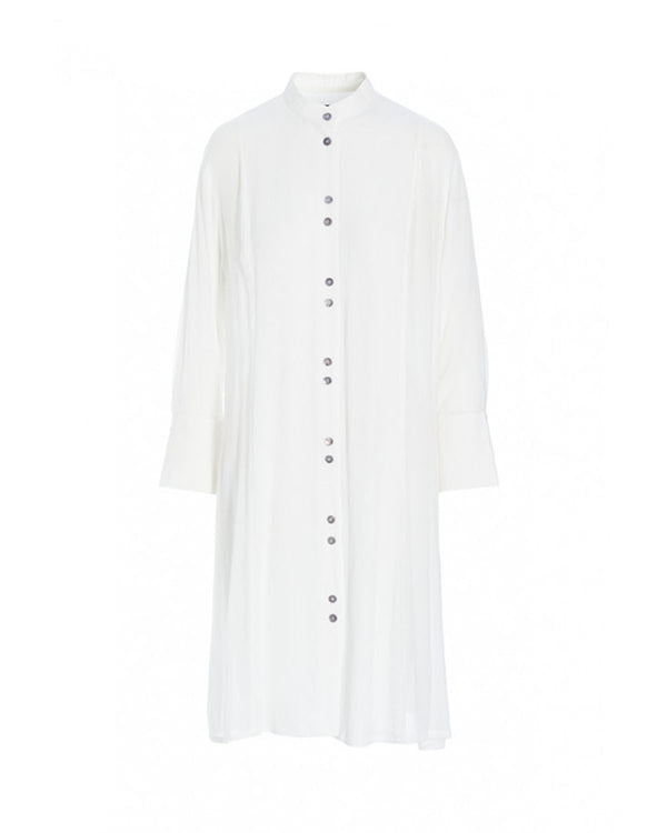 Crepe Button Down Dress | Cloud
