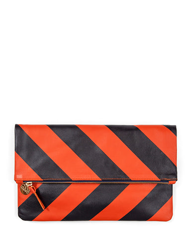 Foldover Clutch | Poppy Stripe