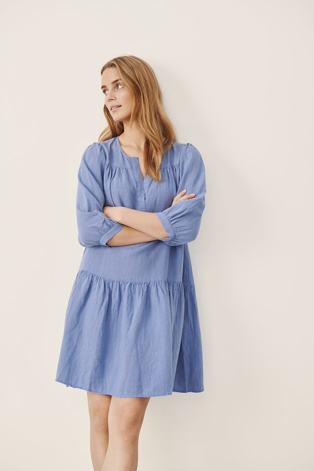 Chanias Linen Dress | Colony Blue