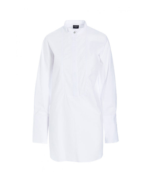 Core Cotton Tunic Shirt | White