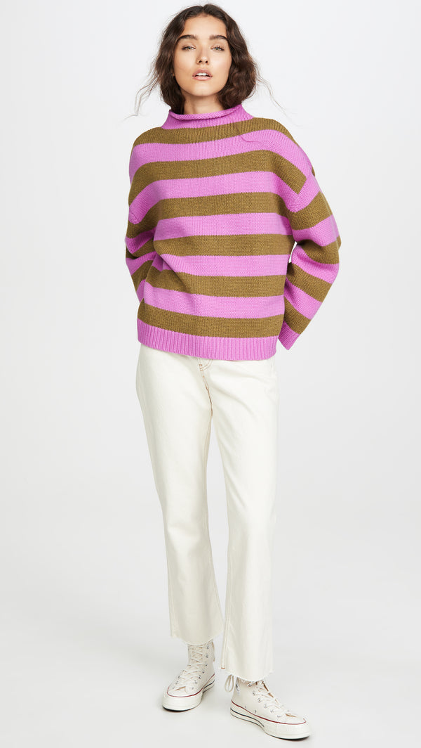 Minnie Striped Merino Wool Sweater | Iris & Fern