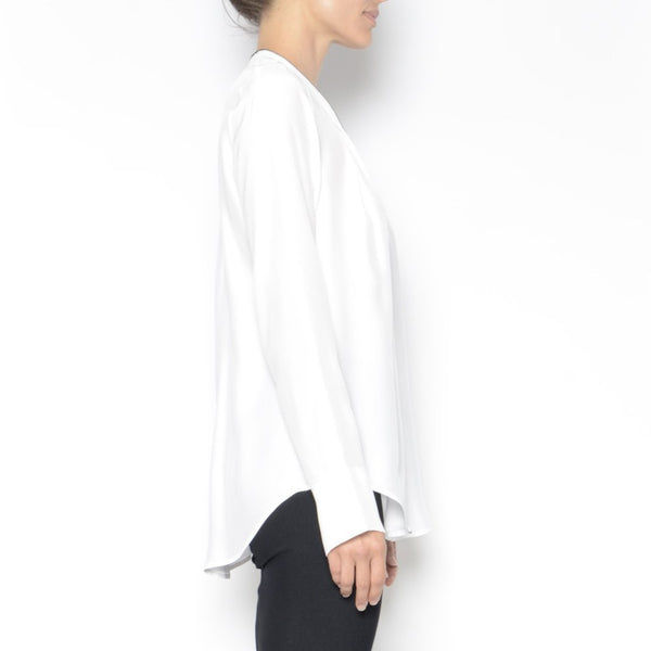Quorgan Silk Blouse | White