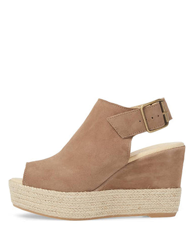 Elisse Wedge | Dark Taupe