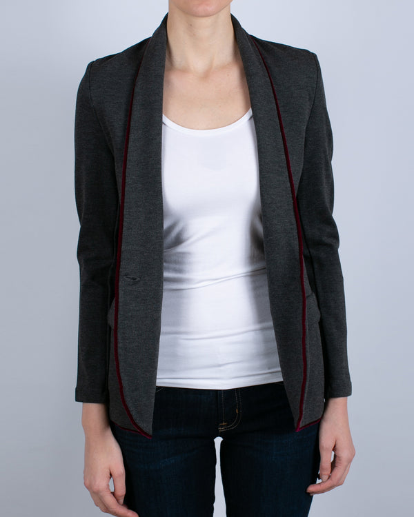One Button Blazer | Flanelle