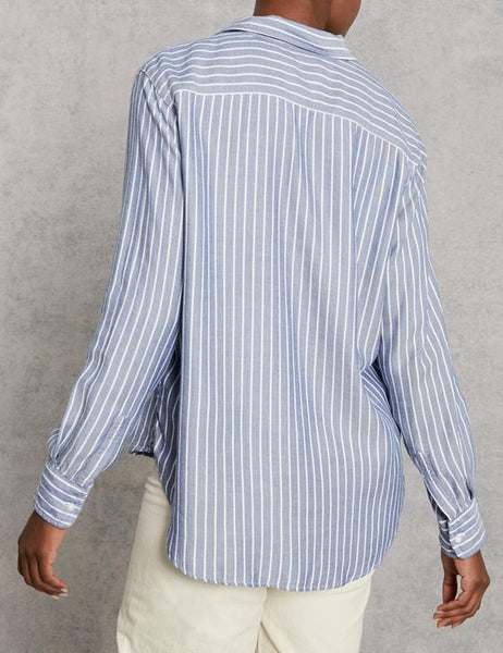Eileen Modal Button Down | Wide Blue Stripe
