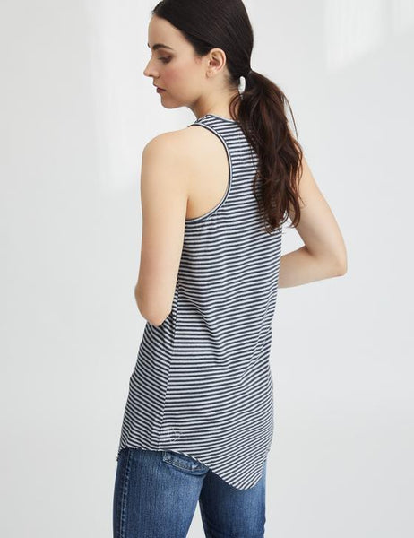 Extra Long Layer Tank | Dime Stripe