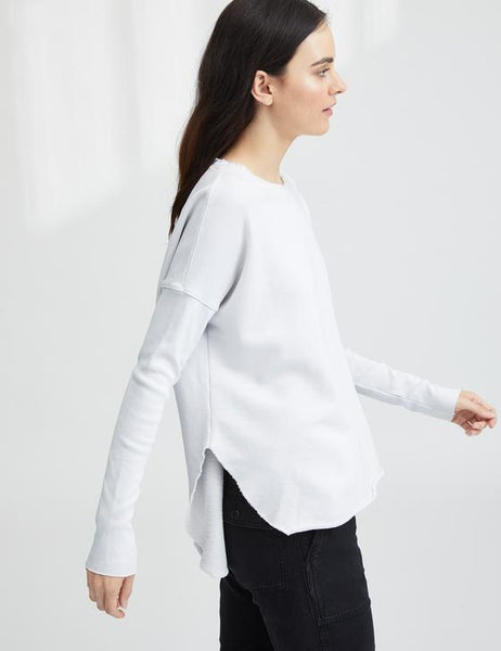 Relaxed Long Sleeve Sweatshirt | Dirty White