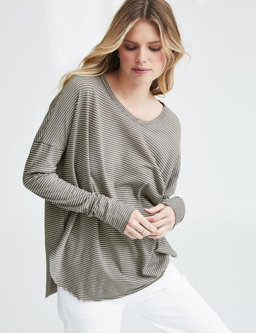 Relaxed Long Sleeve | Earthy Stripe