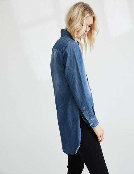 Grayson Top | Distressed Denim