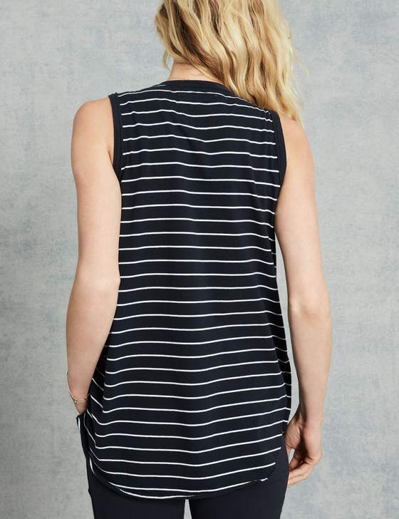 Relaxed Asymmetric Tank | British Royal Navy Stripe