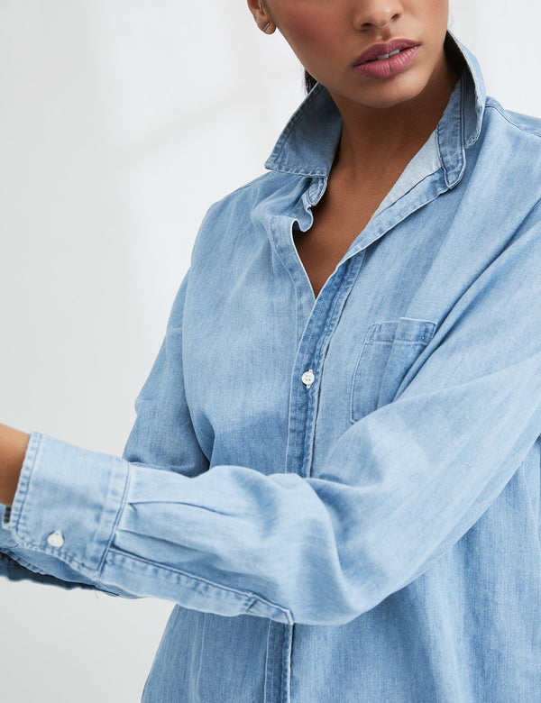 Eileen Famous Denim Button Down | Classic Blue Wash