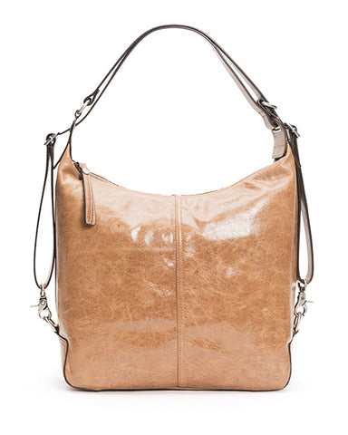 Gia Convertible Leather Backpack | Taupe