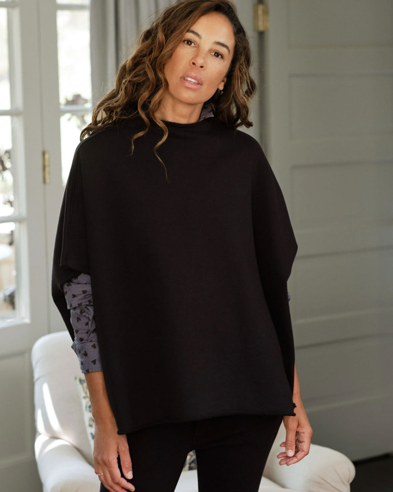 Funnel Neck Capelet | Black