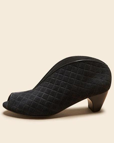 Geneva Low | Quilted Black