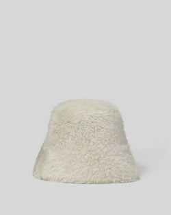 Finnegan Shearling Bucket Hat | Natural
