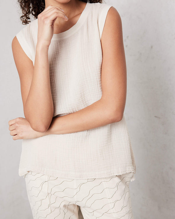Gauze Muscle Tee | Dirty White