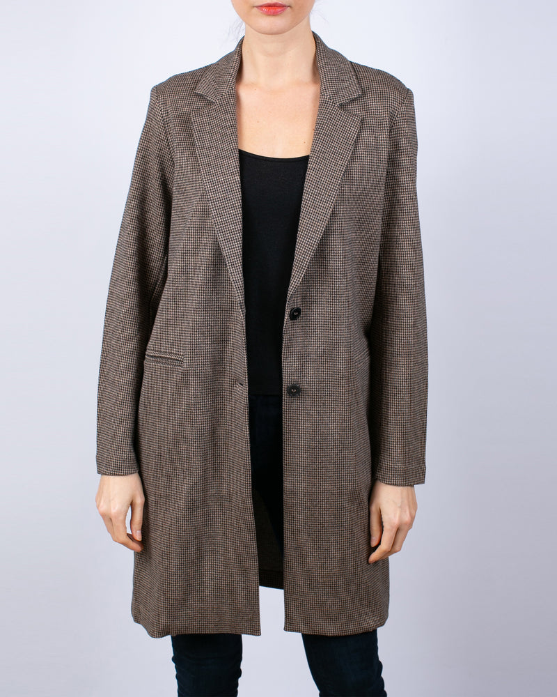 Cotton Houndstooth Coat