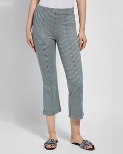 Harley Wide Leg Crop | Hunter Gingham