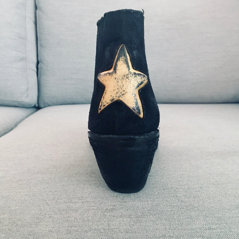Joan Boot With Star | Black