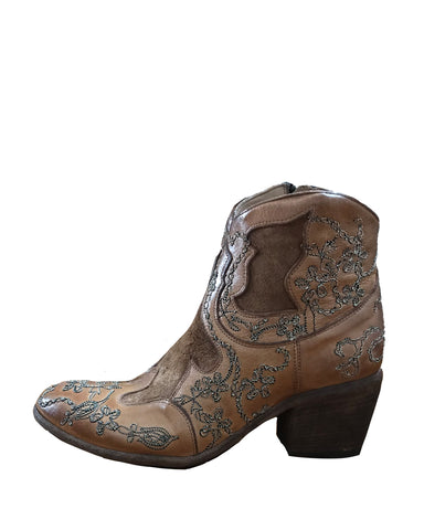 Janis Embroidered Boot | Saddle & Silver