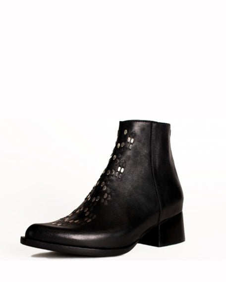 Jett Short Bootie | Black Leather