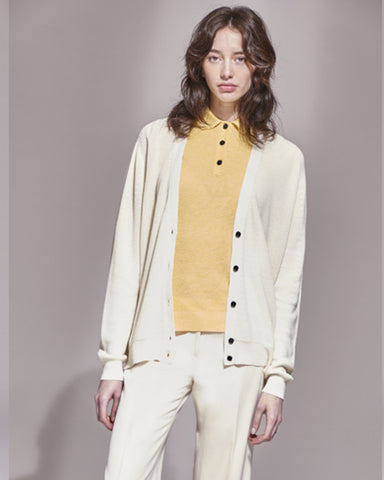 Josefina Linen Cardigan | Off White