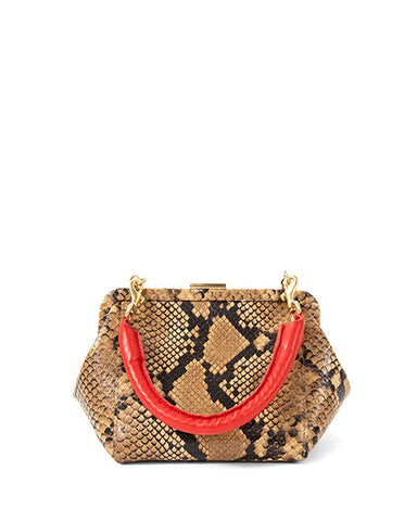 Le Box Bag | Tan Snake
