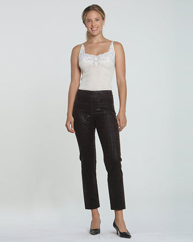 Lili Faux Leather Cigarette Pant | Snake