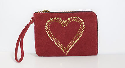 LOVE CLUTCH | BURGUNDY