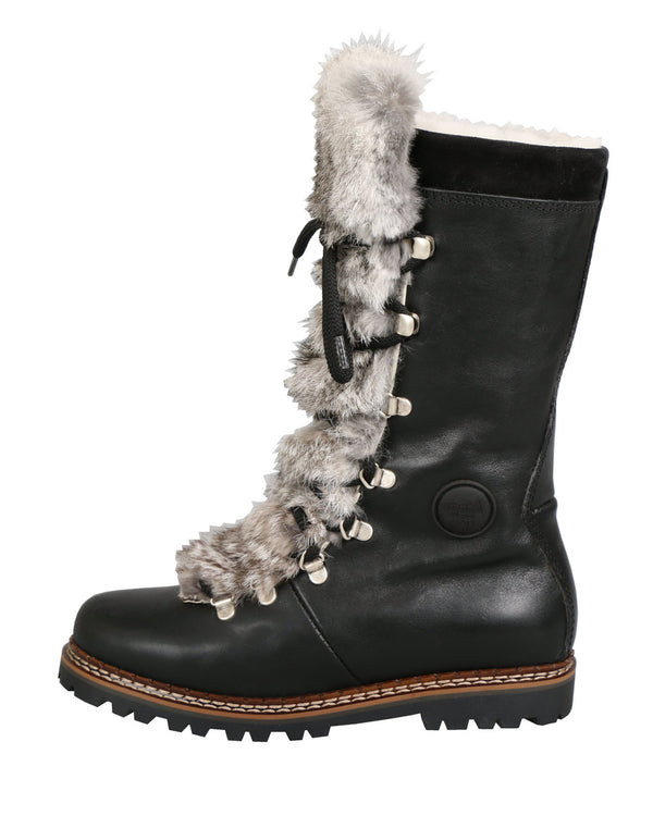 Malix 8093 Boot | Black Leather & Fur