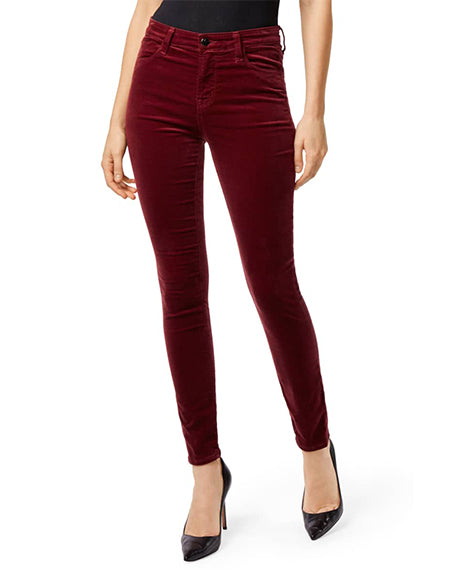 Maria Velveteen High Rise | Oxblood