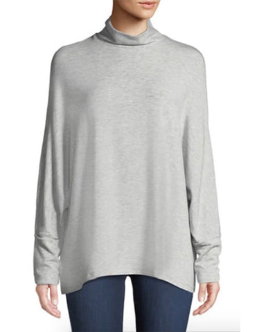 Viscose French Terry Mockneck | Brume Chine