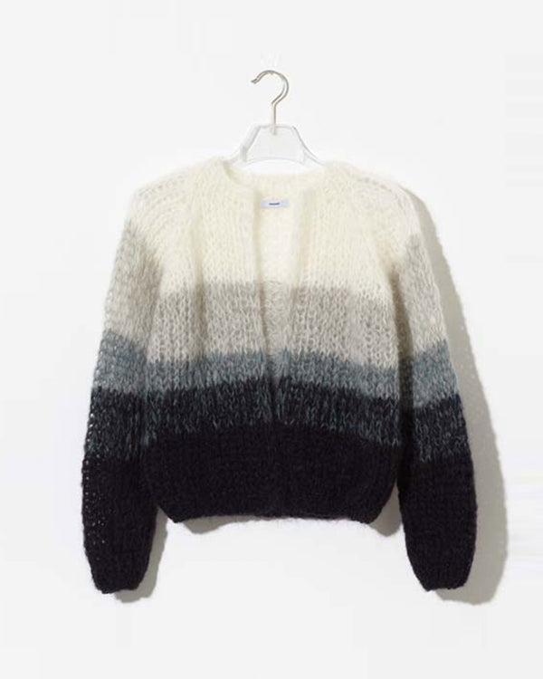 Mohair Small Cardigan Gradient
