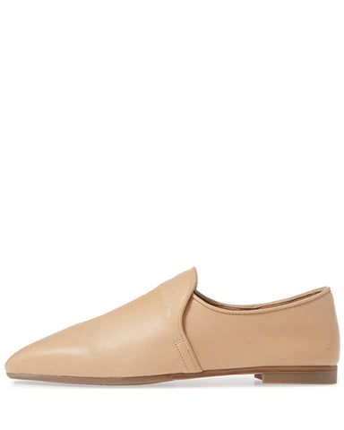 Revy Soft Nappa Smoking Shoe | Nude