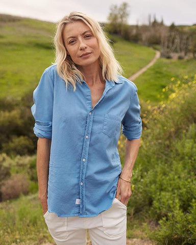 Eileen Washed Denim Button Down | Ocean