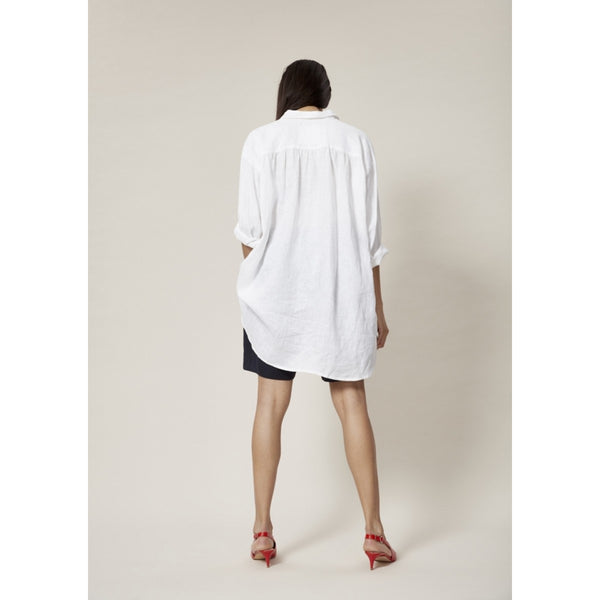 Airy Linen Tunic | White