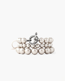 Platinum Pearl Holly Bracelet Set