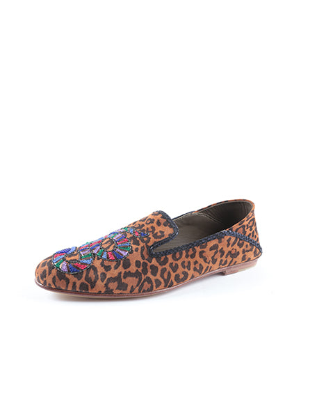 Python Embroidered Moccasin | Leopard