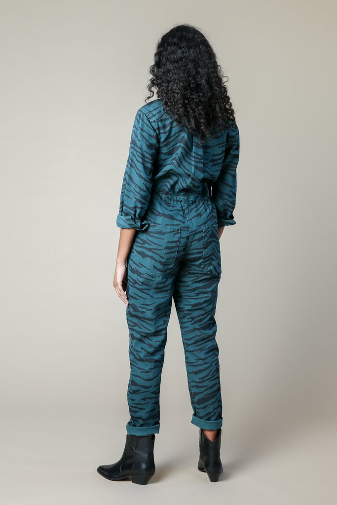 Ziggy Jumpsuit | Emerald Zebra