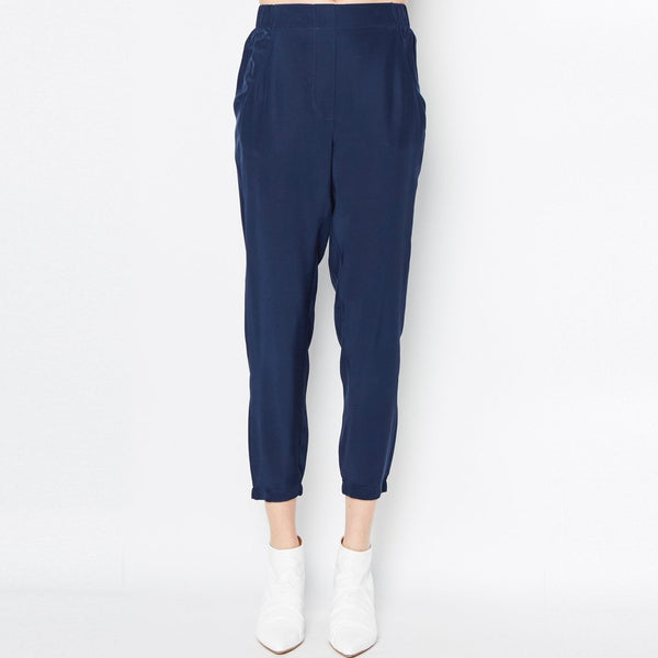 Raubert Silk Pant | Navy
