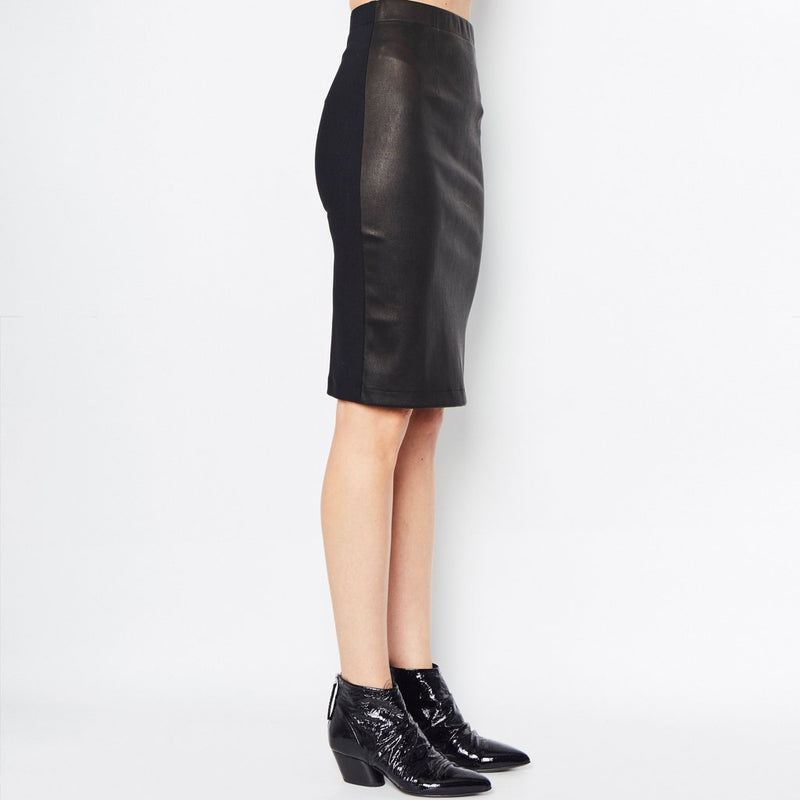 Reed Leather Pencil Skirt | Black