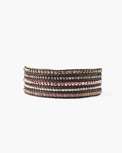 Wrap Bracelet With Stones | Rose Gold Mix