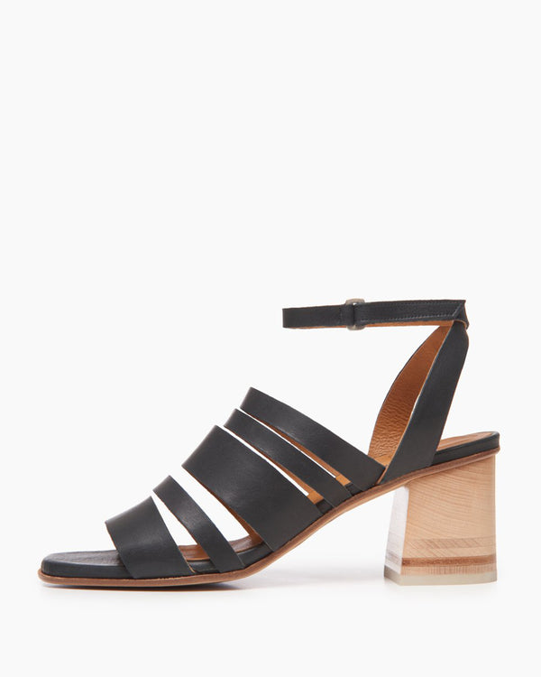 Bijoux Ankle Strap Sandal | Black Sea