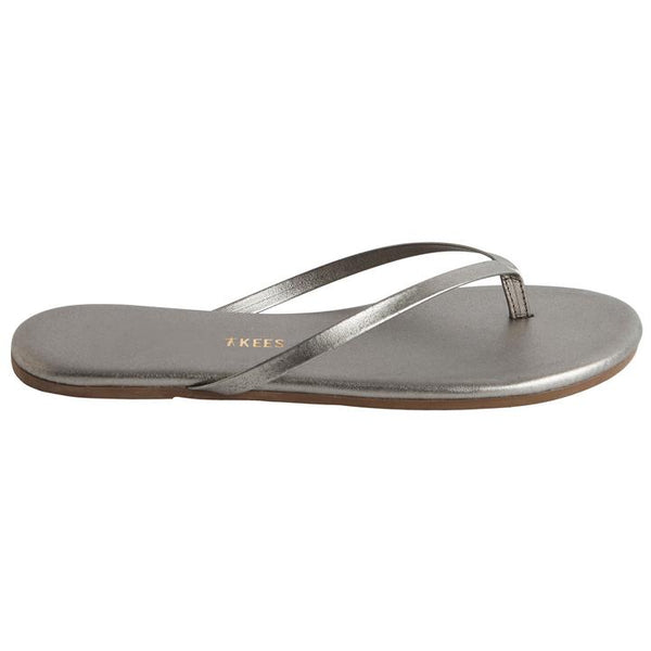 Metallic Flip Flop | Frosty Grey