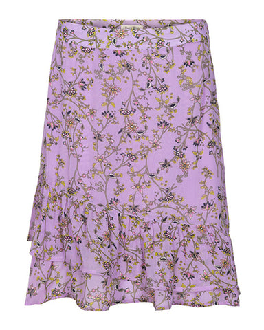 Palmira Mid Length Skirt | Artwork Light Purple