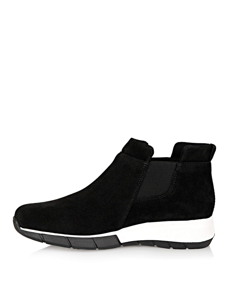 Nikki Waterproof Sneaker | Black Suede