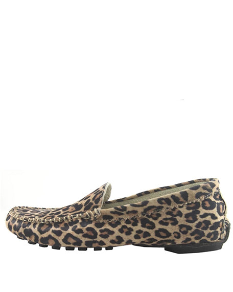 Stella Driving Mocassin | Leopard Suede