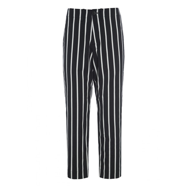 Stripey Stretch Pant | Black & White