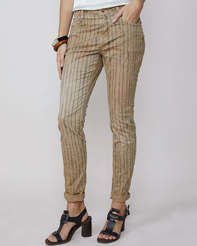 Fine Twill Trousers With Stripe