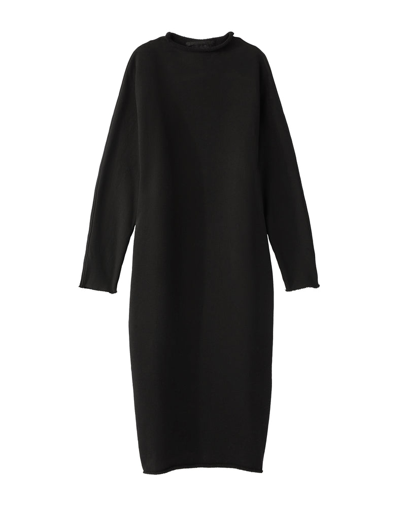 Funnel Neck Dress | Black
